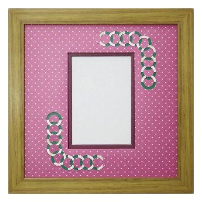 画像1: L版写真 円形 幾何学×ドット R