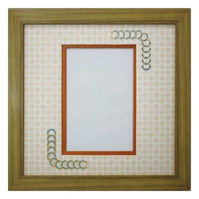 画像1: ポストカード 円形 古紙風×小紋 Y