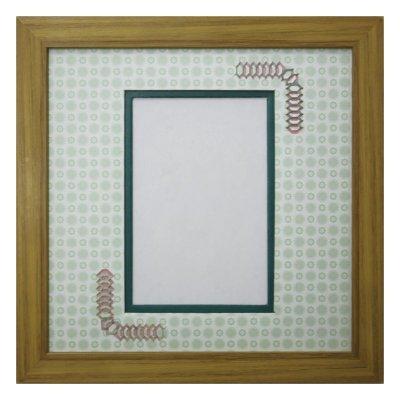 画像1: ポストカード 台形 古紙風×小紋 G