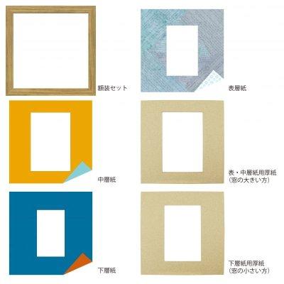画像4: ポストカード 円形 古紙風×小紋 B
