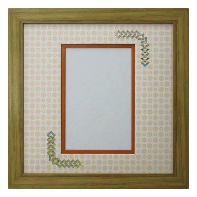 画像1: ポストカード 三角形 古紙風×小紋 Y