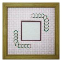 スクエア79 円形 古紙風×小紋 R