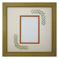 L版写真 三角形 古紙風×小紋 Y