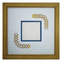 スクエア79 三角形 古紙風×小紋 B