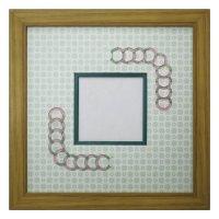 スクエア79 円形 古紙風×小紋 G