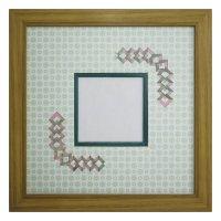 スクエア79 三角形 古紙風×小紋 G