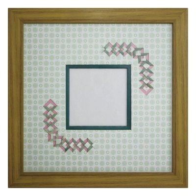 画像1: スクエア79 三角形 古紙風×小紋 G