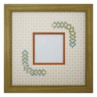スクエア79 三角形 古紙風×小紋 Y