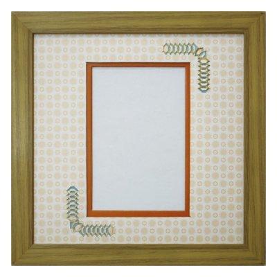 画像1: ポストカード 台形 古紙風×小紋 Y