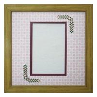 ポストカード 三角形 古紙風×小紋 R