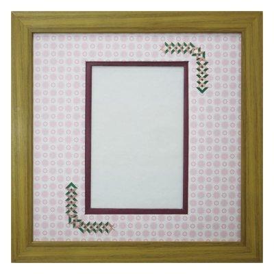 画像1: ポストカード 三角形 古紙風×小紋 R