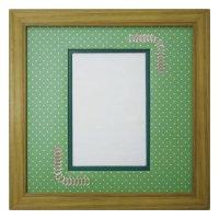 ポストカード 台形 幾何学×ドット G