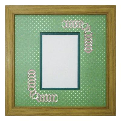 画像1: L版写真 台形 幾何学×ドット G