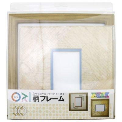 画像3: L版写真 台形 古紙風×小紋 Y