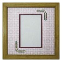 ポストカード 台形 古紙風×小紋 R