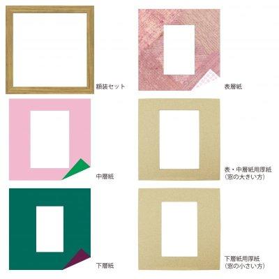 画像4: ポストカード 円形 古紙風×小紋 R