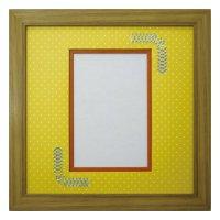 ポストカード 台形 幾何学×ドット Y
