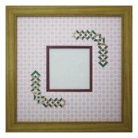スクエア79 三角形 古紙風×小紋 R