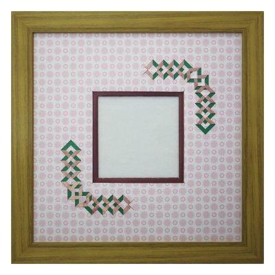 画像1: スクエア79 三角形 古紙風×小紋 R