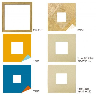 画像4: スクエア79 台形 古紙風×小紋 Y