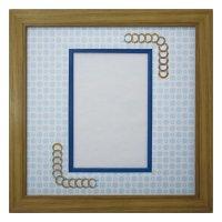 ポストカード 円形 古紙風×小紋 B