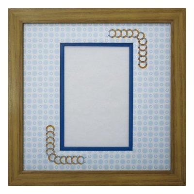 画像1: ポストカード 円形 古紙風×小紋 B