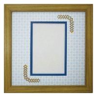 ポストカード 三角形 古紙風×小紋 B