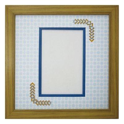 画像1: ポストカード 三角形 古紙風×小紋 B