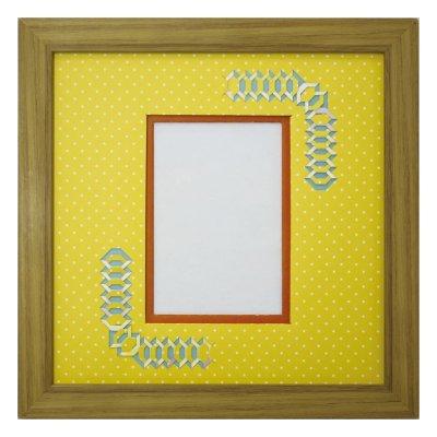 画像1: L版写真 台形 幾何学×ドット Y