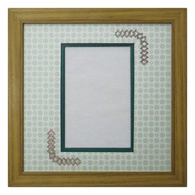 画像1: ポストカード 三角形 古紙風×小紋 G