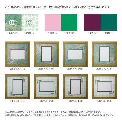 画像2: ポストカード 台形 古紙風×小紋 G