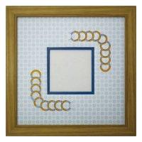 スクエア79 円形 古紙風×小紋 B