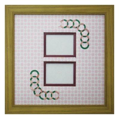 画像1: チェキW 円形 古紙風×小紋柄 R