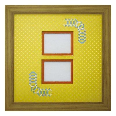 画像1: チェキW 台形 幾何学×ドット Y