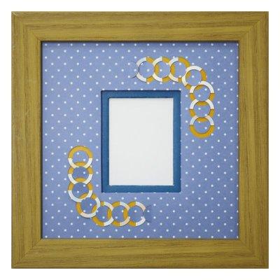 画像1: チェキS 円形 幾何学×ドット B