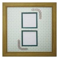 スクエア62W 三角形 古紙風×小紋 G