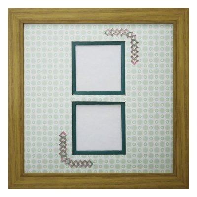 画像1: スクエア62W 三角形 古紙風×小紋 G