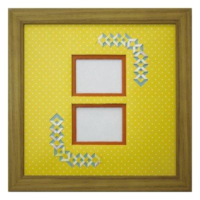 画像1: チェキW 三角形 幾何学×ドット Y