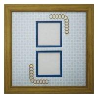 スクエア62W 円形 古紙風×小紋 B