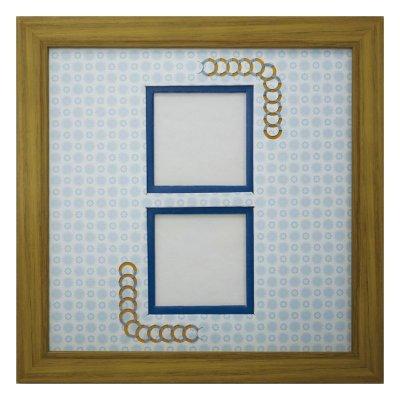 画像1: スクエア62W 円形 古紙風×小紋 B