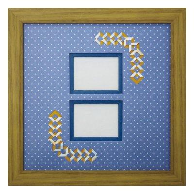 画像1: チェキW 三角 幾何学×ドット B
