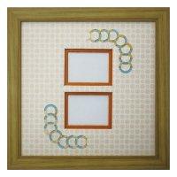 チェキW 円形 古紙風×小紋柄 Y