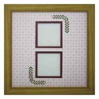 スクエア62W 三角形 古紙風×小紋 R