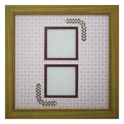 画像1: スクエア62W 三角形 古紙風×小紋 R