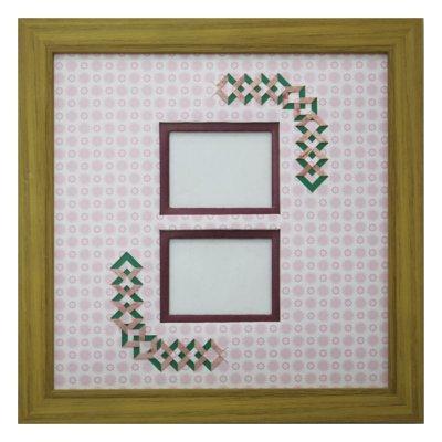 画像1: チェキW 三角形 古紙風×小紋柄 R