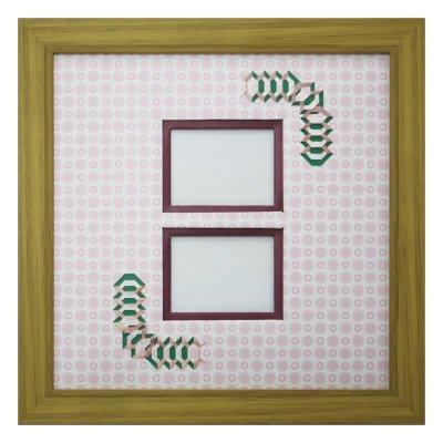 画像1: チェキW 台形 古紙風×小紋柄 R