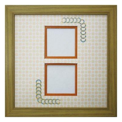 画像1: スクエア62W 円形 古紙風×小紋 Y