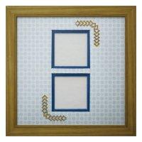 スクエア62W 三角形 古紙風×小紋 B