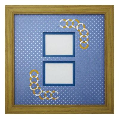 画像1: チェキW 円形 幾何学×ドット B