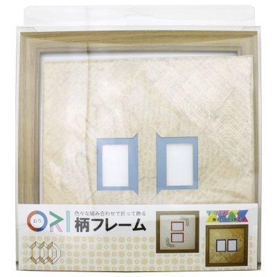 画像3: チェキW 台形 古紙風×小紋柄 Y